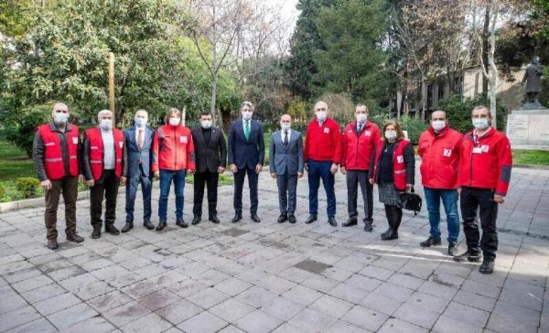 Kızılay'dan Tunç Soyer'e teşekkür ziyareti