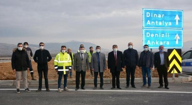 Dinar'da yeni Çivril yolu açıldı