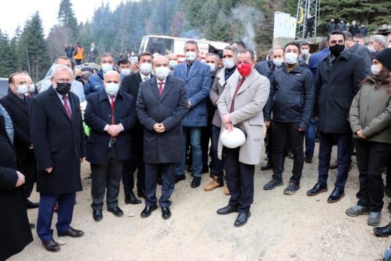 İç kaplama işi tamamlanan Karadere Tüneli için açılış töreni