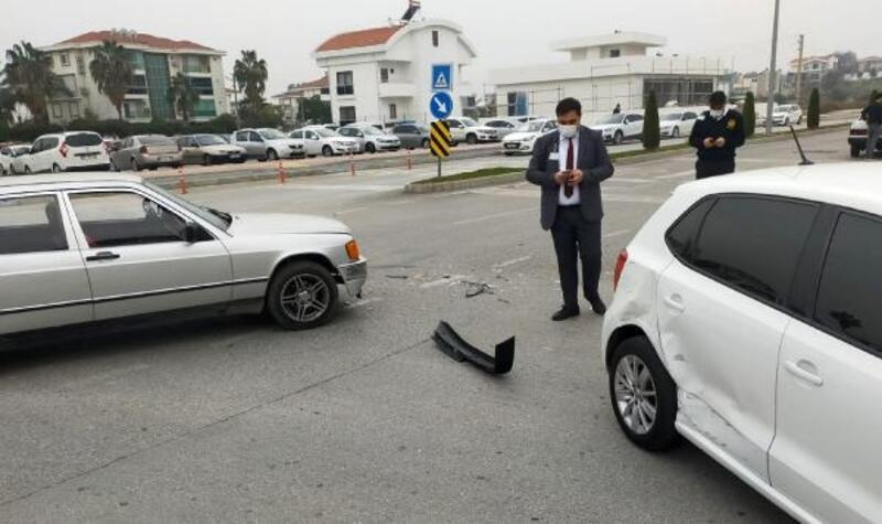 Kontrolsüz kavşakta kaza: 1 yaralı