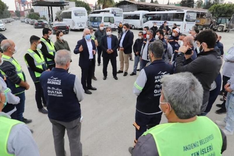 Akdeniz Belediyesi'nden personele 500 TL pandemi desteği