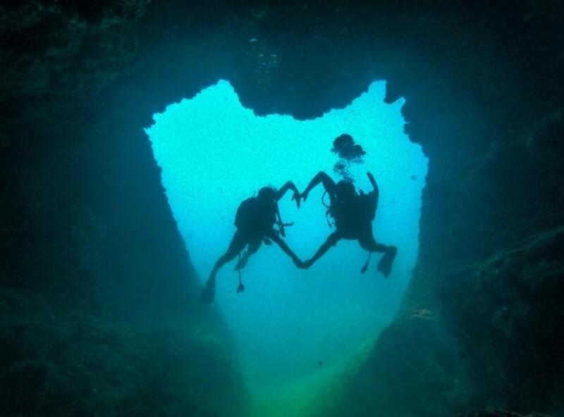 Aşk mağarasına özel dalış