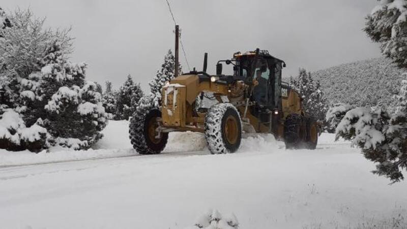 Bursa Büyükşehir Belediyesi ekiplerinin kar seferberliği