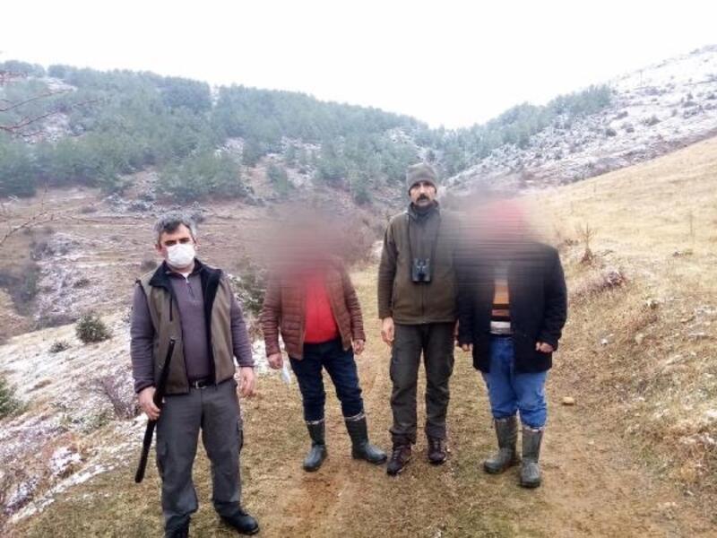 Tokat'ta uygunsuz avlanan 5 kişiye 20 bin lira ceza