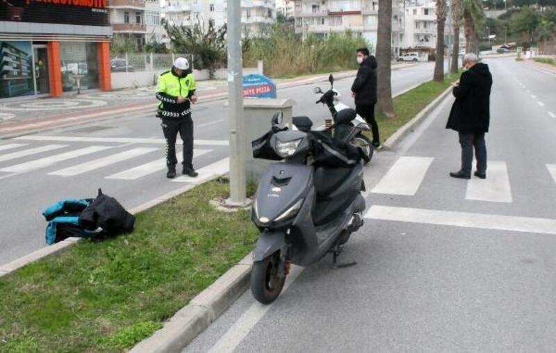 Motosikletli kuryeler çarpıştı: 1 yaralı