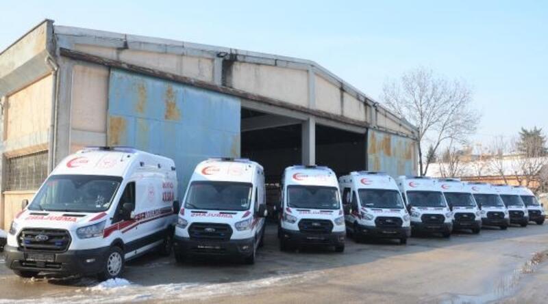 Bursa'ya 10 ambulans daha geldi