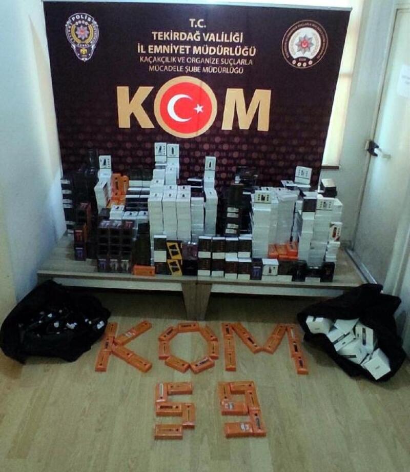 Tekirdağ'da 880 kaçak elektronik sigara ele geçirildi
