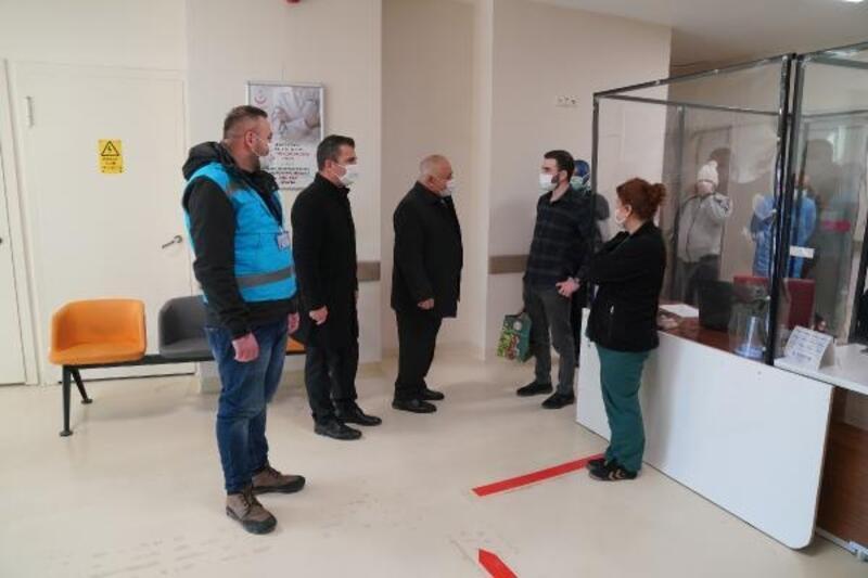 Erbaa'da pandemi çalışanlarına teşekkür ve moral ziyareti