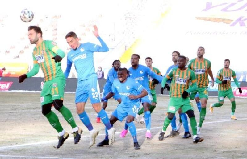Büyükşehir Belediye Erzurumspor - Aytemiz Alanyaspor: 1-1