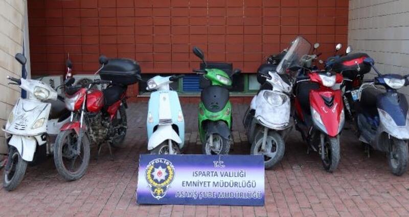 Isparta'da motosiklet hırsızı yakalandı