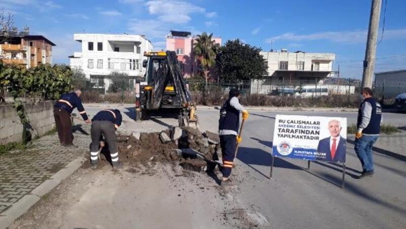 Akdeniz Belediyesi ekipleri, her mahalleye hizmet veriyor