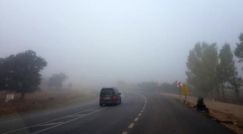 Demre'de ulaşıma sis engeli