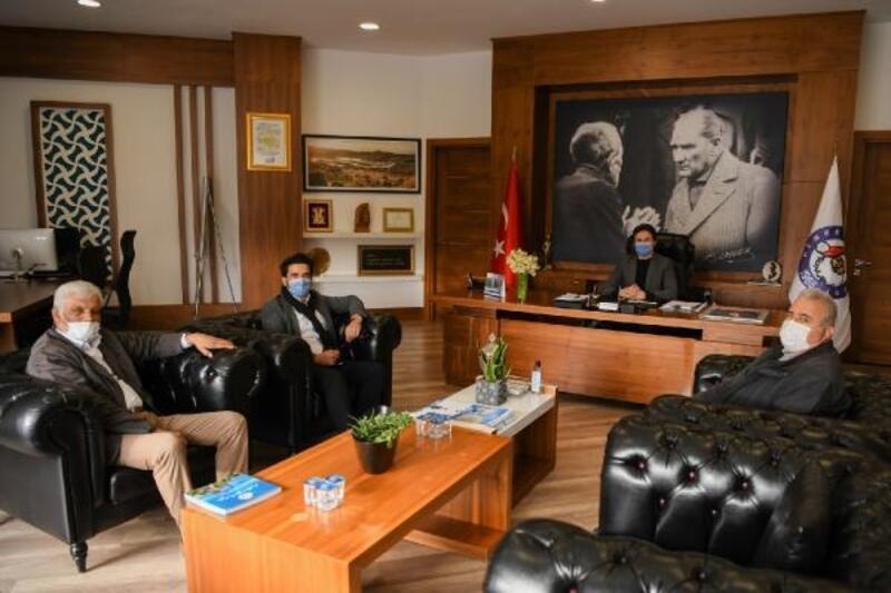 Başkan Kocakaya'ya teşekkür ziyareti