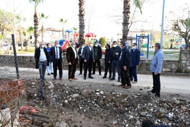 Kemer Belediyesi'nden Çamyuva'da altyapı çalışması