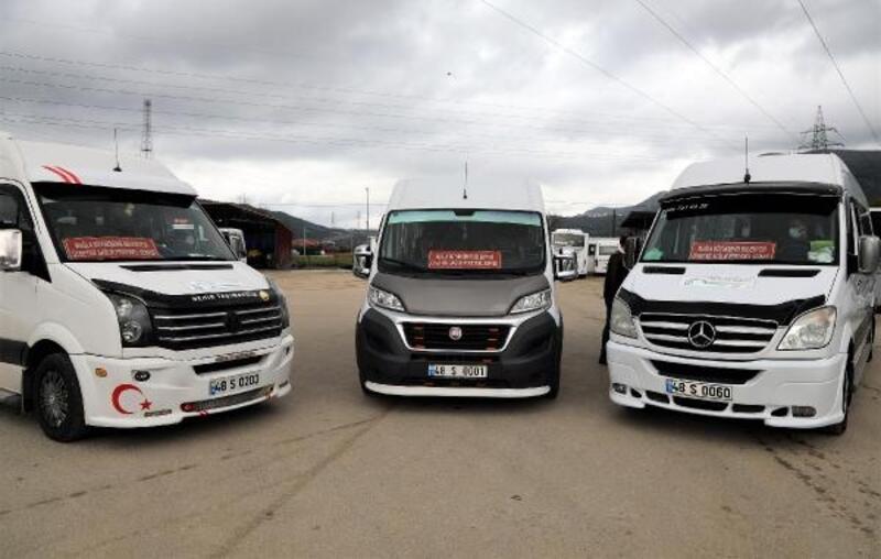 Muğla'da sağlık çalışanlarını 'S' plakalı personel servis araçları taşıyacak
