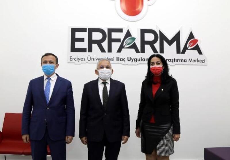Başkan Büyükkılıç ve Rektör Çalış'tan ERFARMA'ya ziyaret