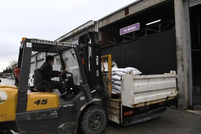 Osmangazi Belediyesi karla mücadele için hazırlıklarını tamamladı