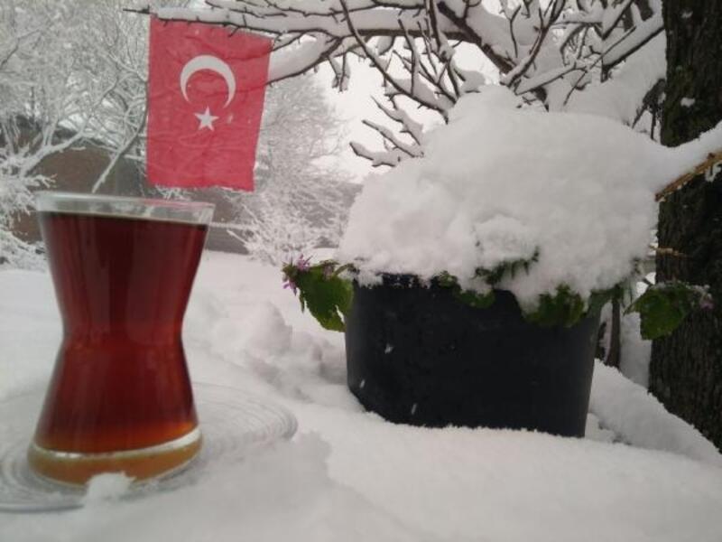 Manyas'ta kar etkili oldu