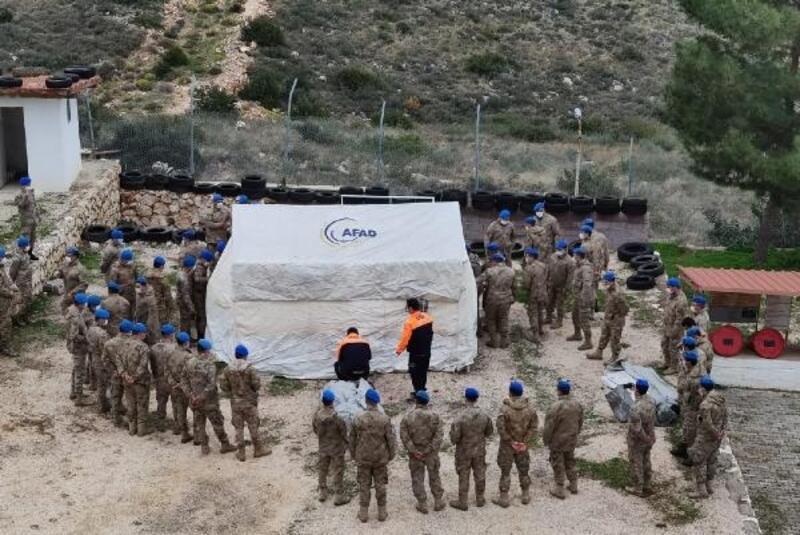 Jandarma ekiplerine geçici barınma alanı eğitimi