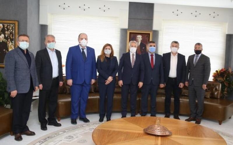 Bulgaristan Hak ve Özgürlükler Hareketi'nden Başkan Erdem'e ziyaret