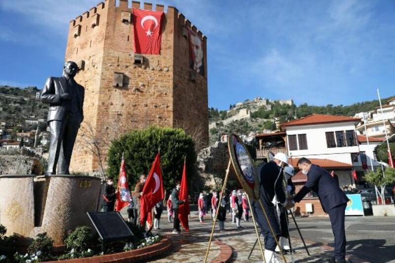 Atatürk'ün Alanya'ya gelişinin yıl dönümü kutlandı