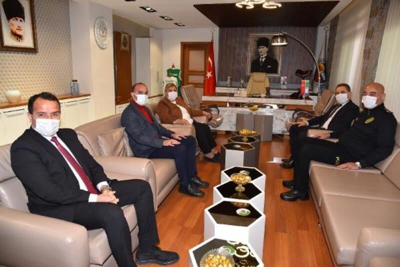 Kaymakam Yılmaz ve Emniyet Müdürü Berberoğlu'ndan Başkan Erdem'e ziyaret