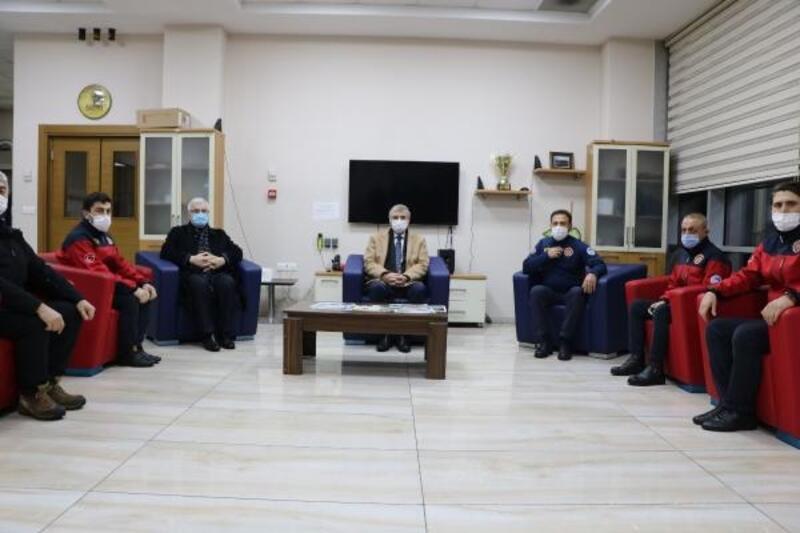Başkan Yüce, görev başındaki personellerin kandilini kutladı
