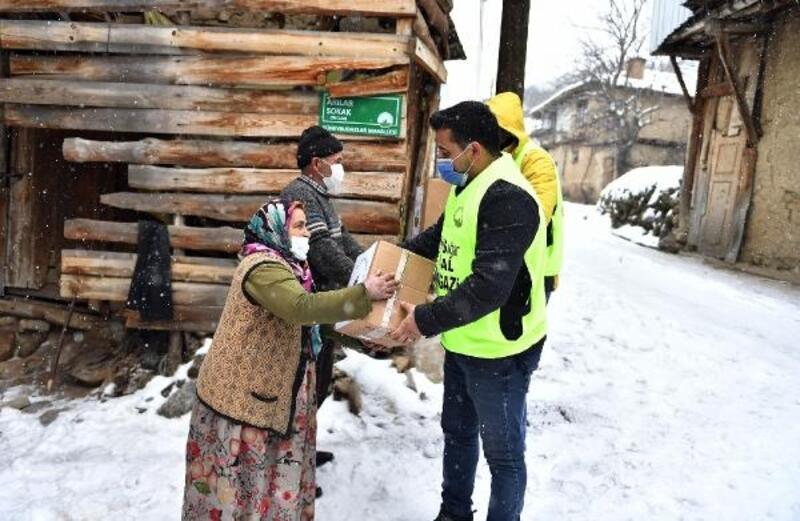Osmangazi'den kış gününde yürek ısıtan yardım