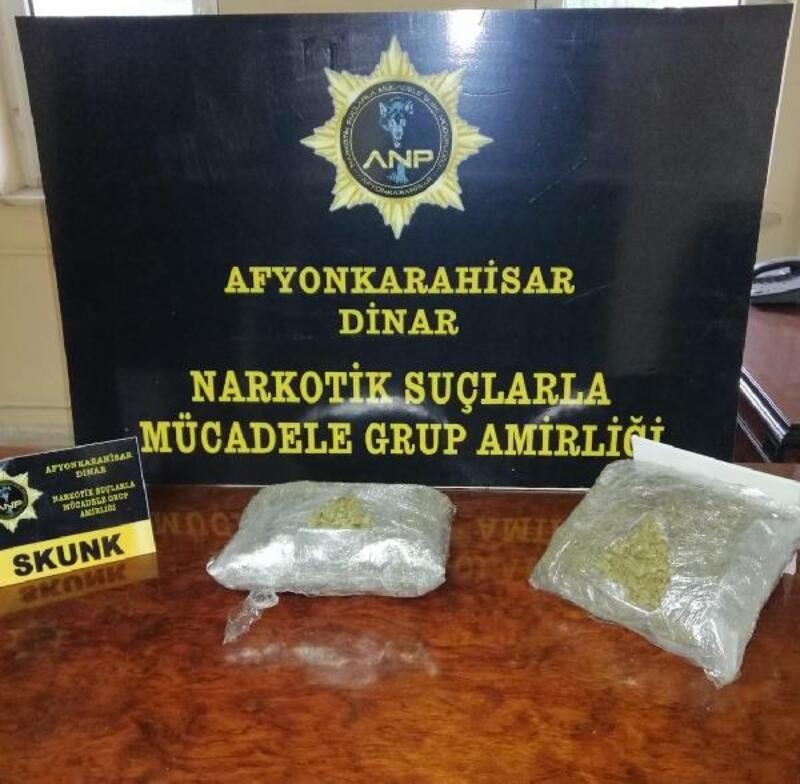 Dinar'da uyuşturucu operasyonuna 4 tutuklama