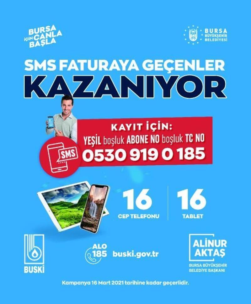BUSKİ'den 'SMS fatura' çağrısı