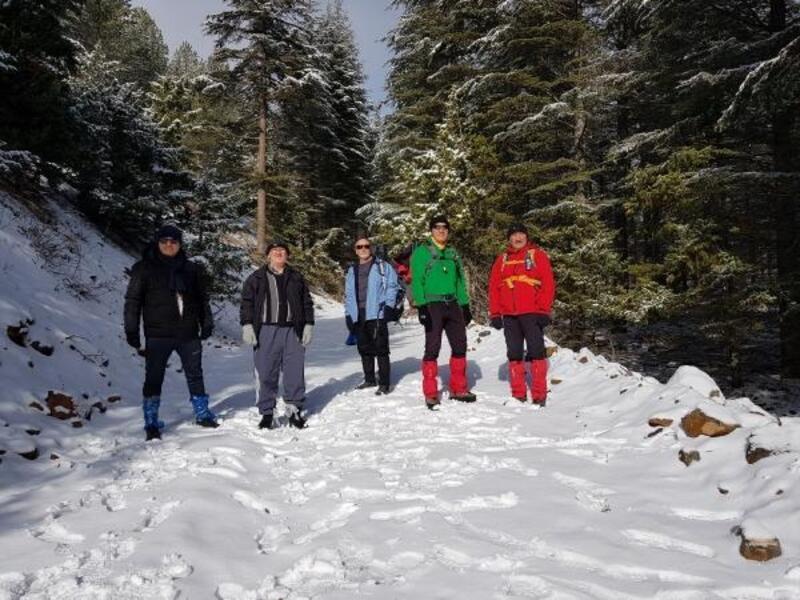 Pozantı'da karda doğa yürüyüşü