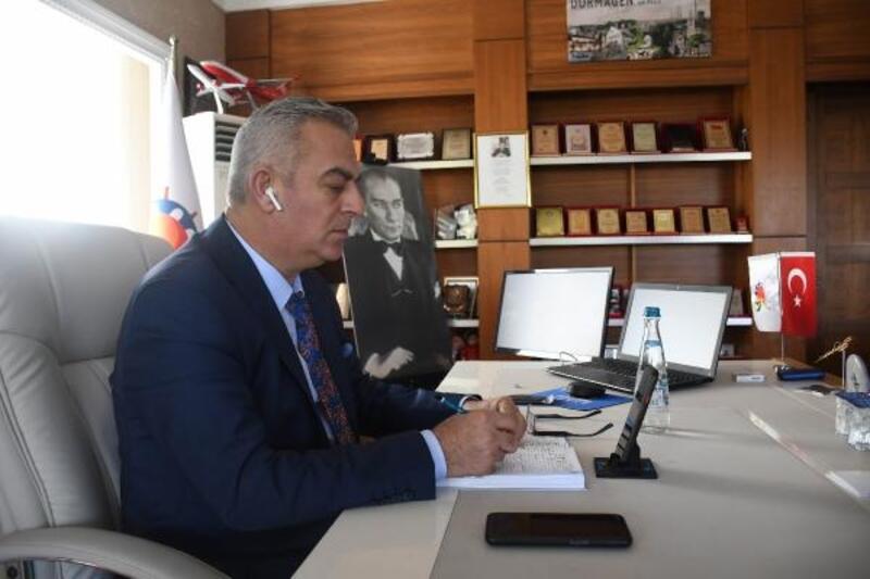Kemer'de Cumhurbaşkanlığı Türkiye Bisiklet Turu hazırlığı