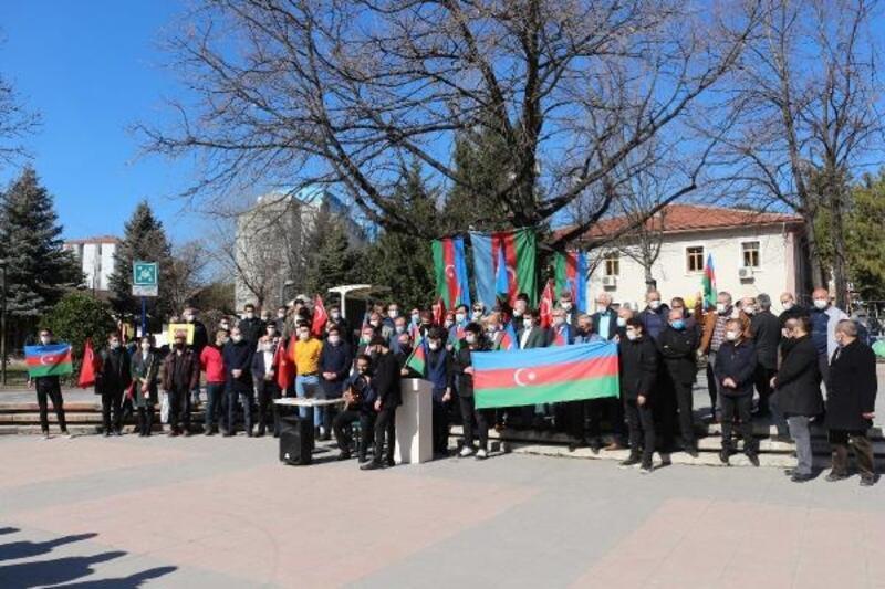 Çankırı'da Azerbaycanlı öğrenciler, Hocalı Katliamı'nı kınadı