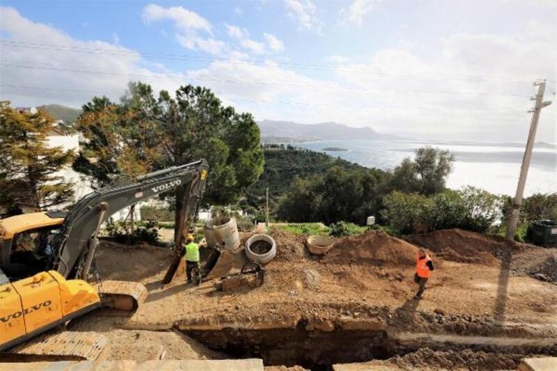 Bodrum Turgutreis'te 60 kilometre kanalizasyon hattı tamamlandı