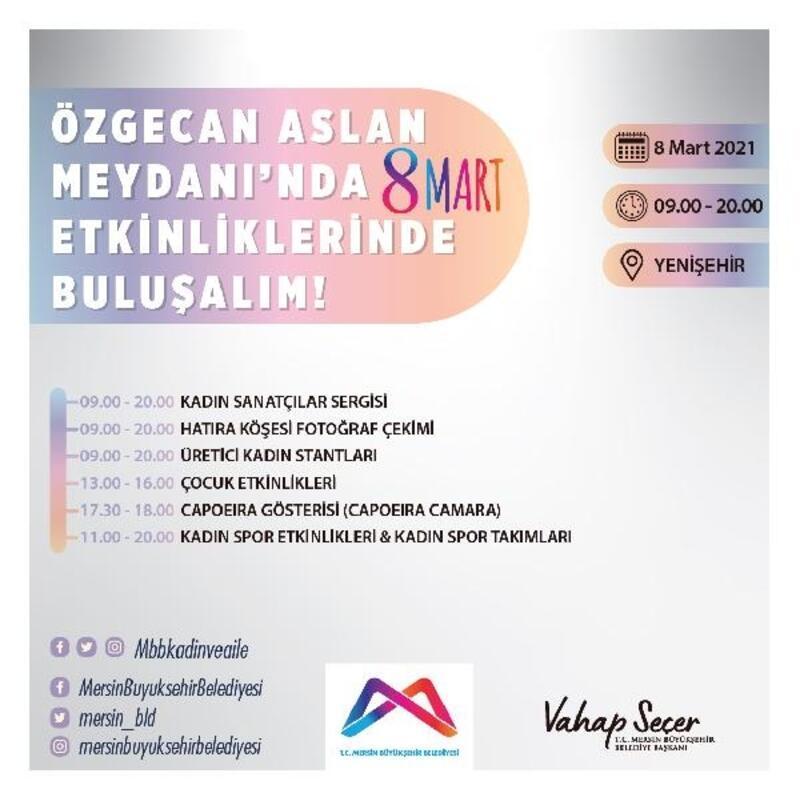 Mersin Büyükşehir'den, 8 Mart için dolu dolu program
