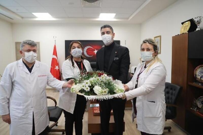 Başkan Yüksel, 14 Mart Tıp Bayramı sebebiyle sağlık çalışanlarını ziyaret etti