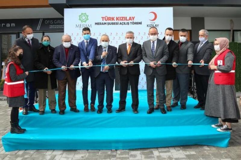 Türk Kızılay'ı Meram şubesinin Yeni binası hizmete açıldı