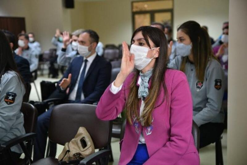 Bursa Büyükşehir Belediyesi güvenlik personeline işaret dili eğitimi