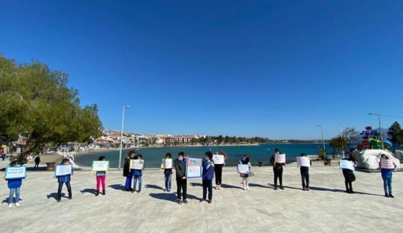 Datçalı öğrencilerden 'Muğla, mavi olsun' kampanyası