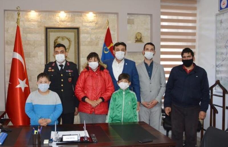 Özel öğrenciler, jandarmayı ziyaret etti