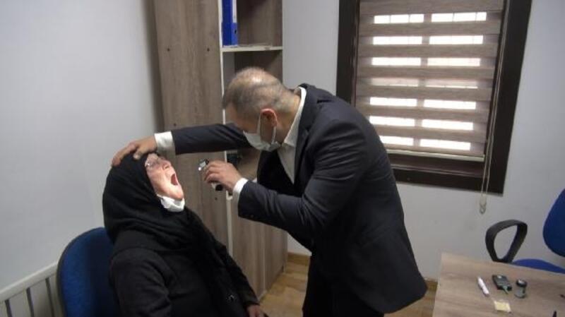 Kırıkkale'de yaşlılar sağlık kontrolünden geçirildi