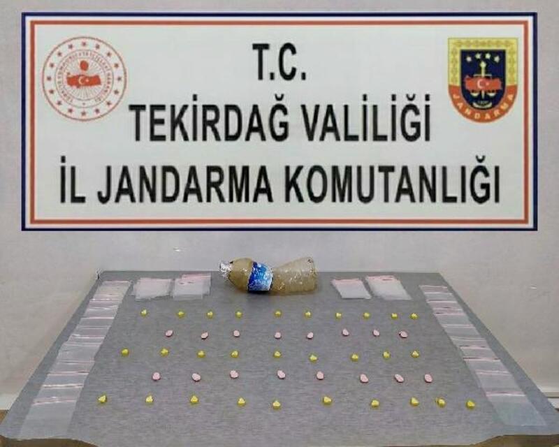 Saray'da bir evde  46 adet uyuşturucu hap ele geçirildi