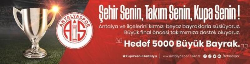 Antalya kırmızı beyaza boyanacak