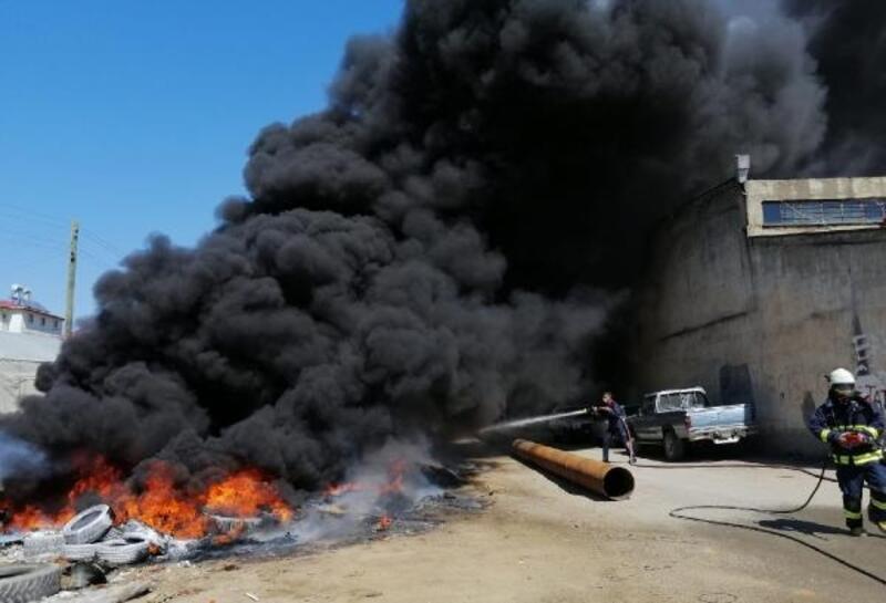 Gazipaşa'da hurdalıkta yangın korkuttu
