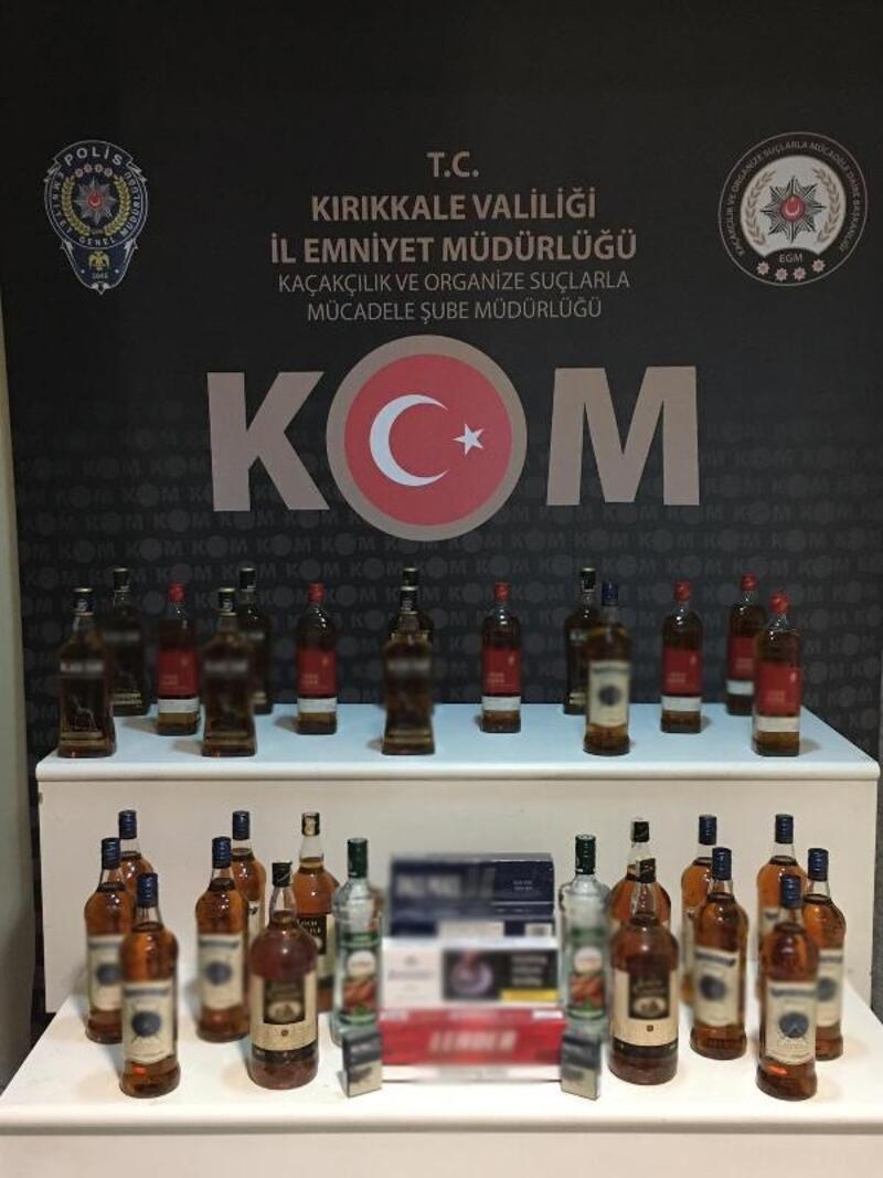 Kırıkkale'de 32 litre kaçak içki ele geçirildi