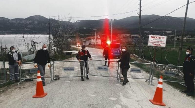 Bucak'ta bir köy karantinaya alındı
