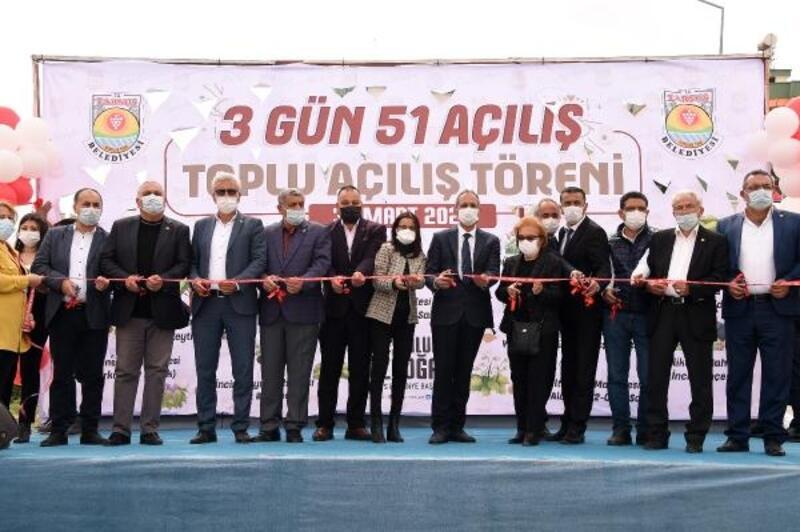 Tarsus Belediyesi, 3 günde 51 açılış yaptı