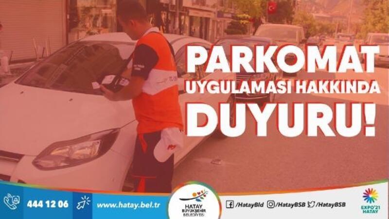 Hatay'da 'Parkomat' düzenlemesi