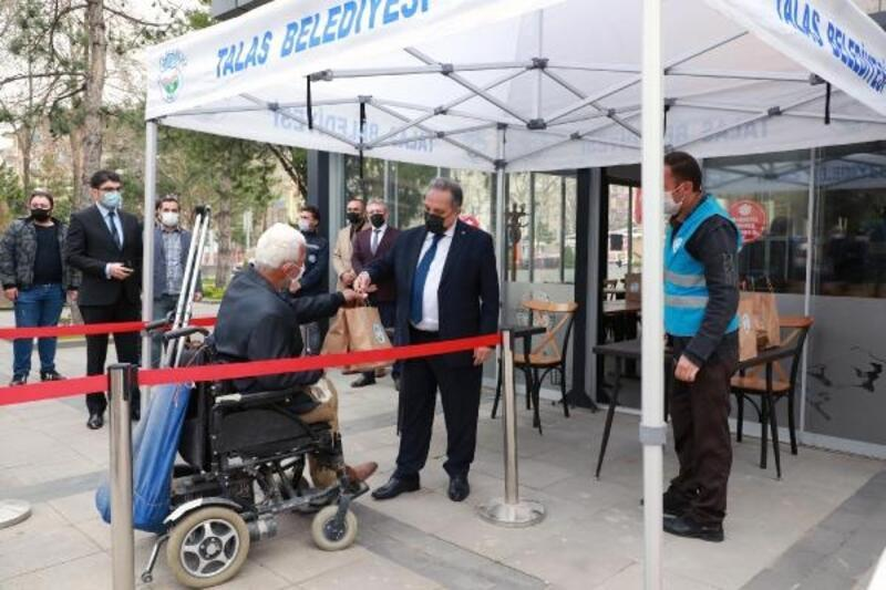 Talas Belediyesinden 'Biz pişirelim, siz ulaştırın' uygulaması