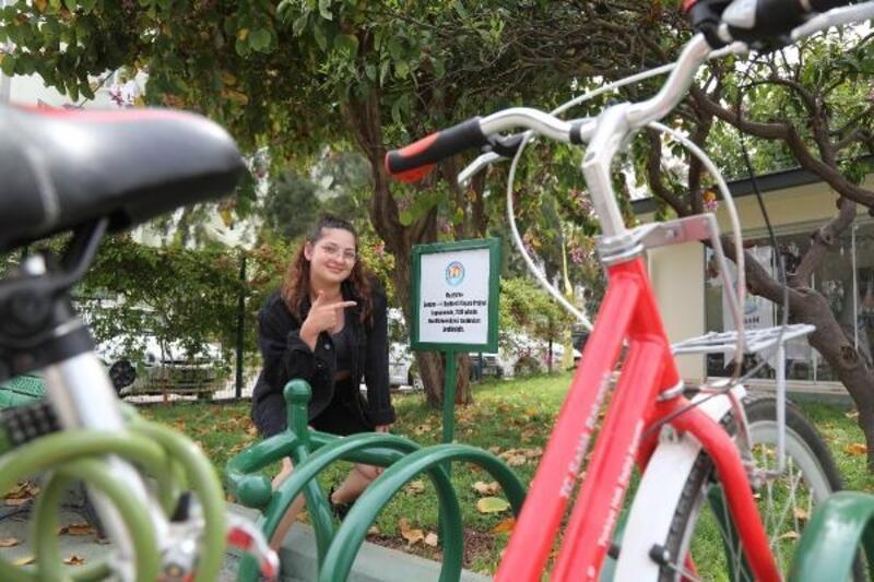 Sonsuz bisikletli yaşam için bisiklet durakları yerleştirilmeye başlandı